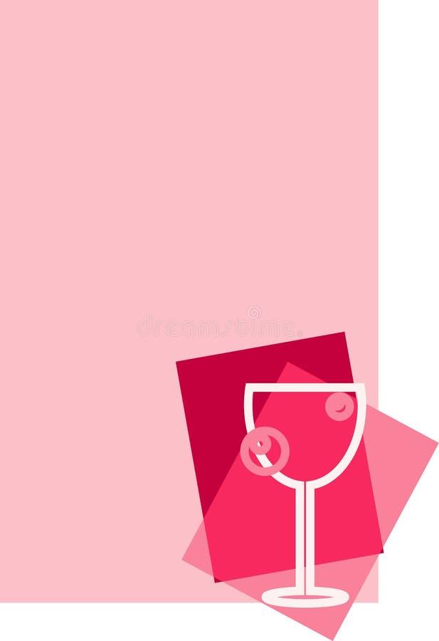 Vin rose illustration de vecteur