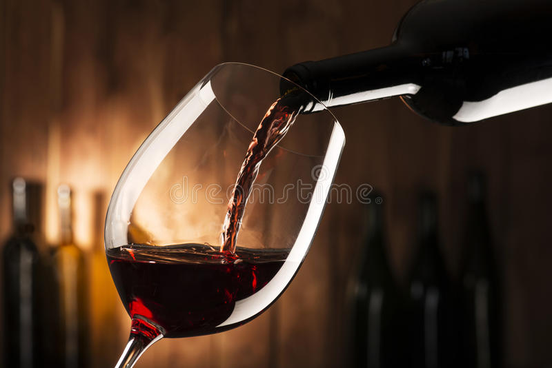 Vin rouge photo stock