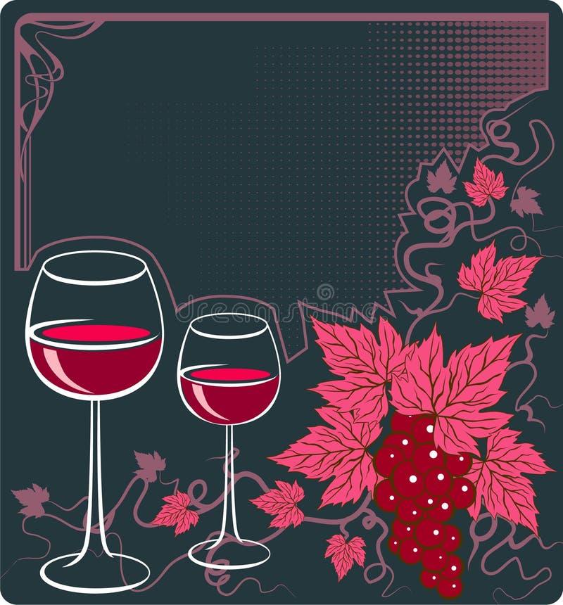 Vin rouge illustration libre de droits