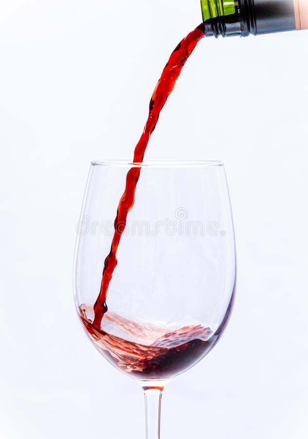 Vin rouge dans la glace photographie stock libre de droits