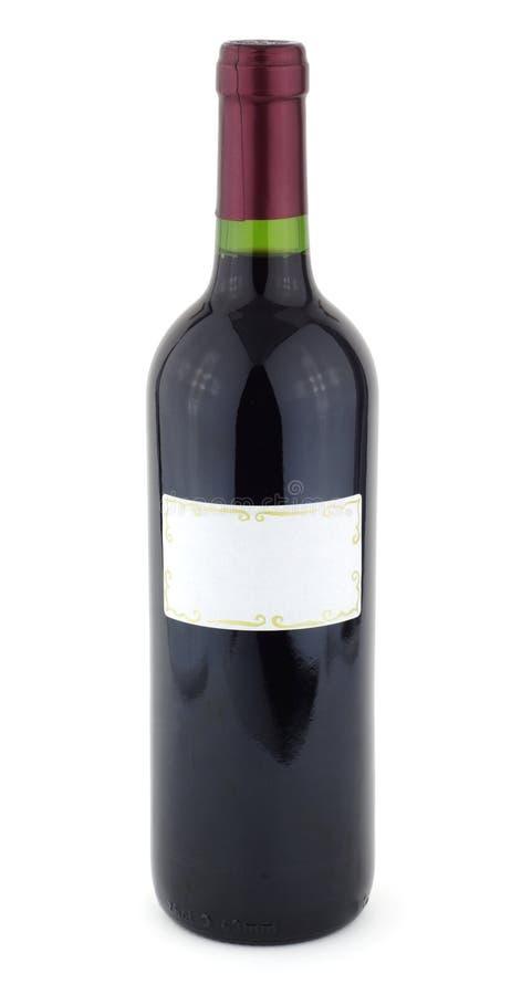 vin rouge de bouteille photographie stock libre de droits