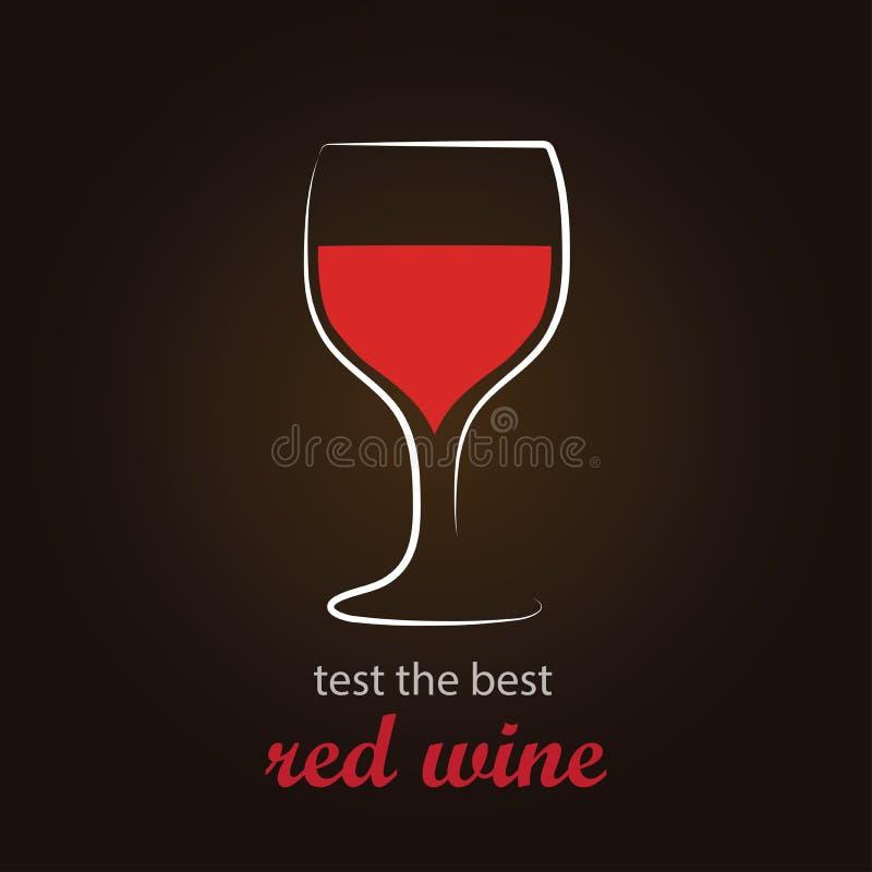 Vin rouge en verre de vin illustration stock