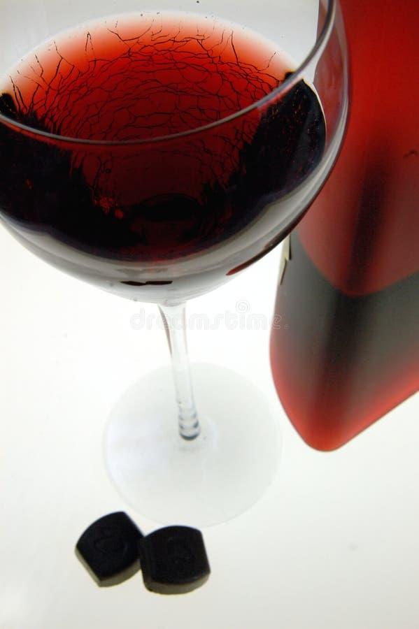 Vin Rouge Et Chocolat Images libres de droits