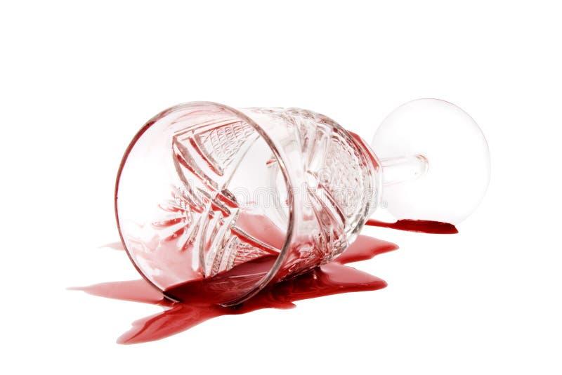 Vin rouge renversé photographie stock