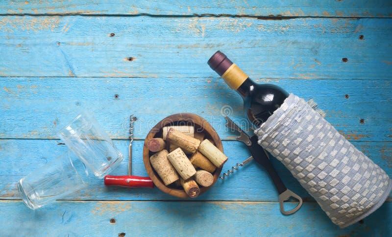 Vin vinkorkar, arkivbild