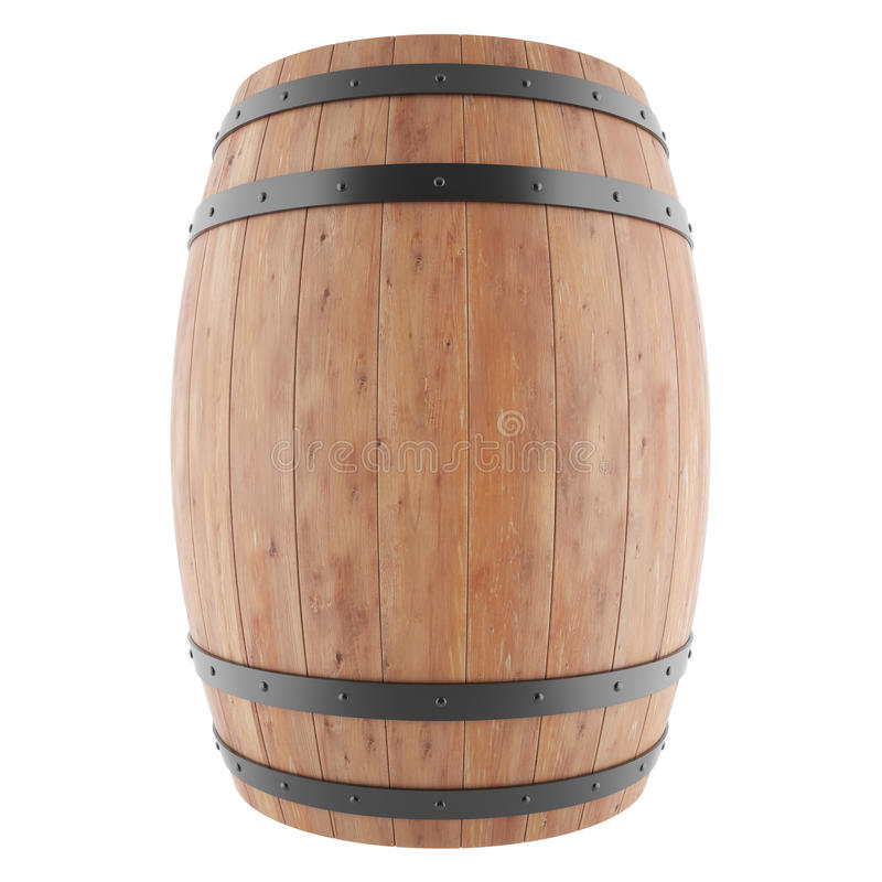Vin, whiskey, rhum, baril de bière illustration stock