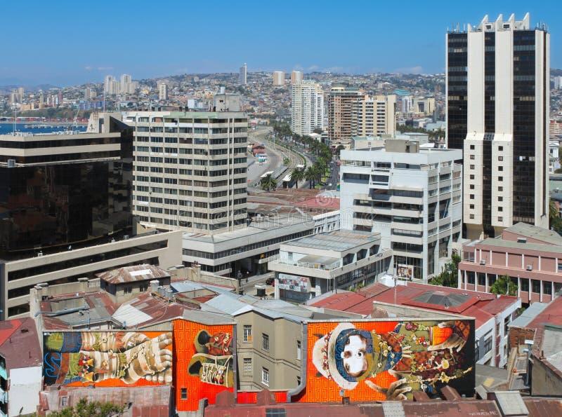 Vina Del Mar, Чили: Взгляд города стоковое фото rf