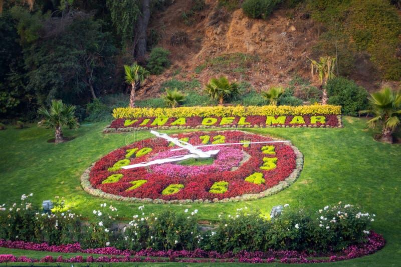 Vina del Mar Clock Flower - Reloj de Flores - Vina del Mar, Cile fotografia stock libera da diritti