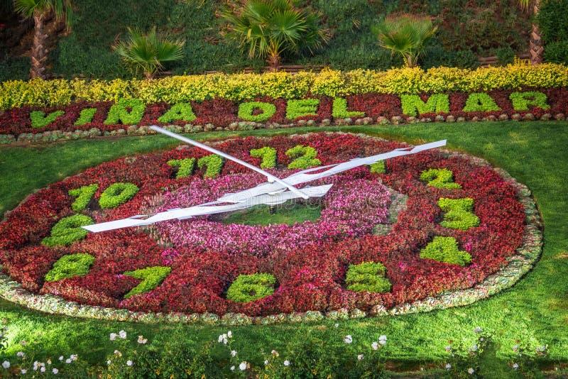 Vina del Mar Clock Flower - Reloj de Flores - Vina del Mar, Cile fotografie stock