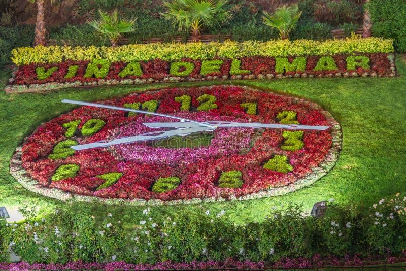 Vina del Mar Clock Flower - Reloj de Flores - Vina del Mar, Cile immagini stock libere da diritti