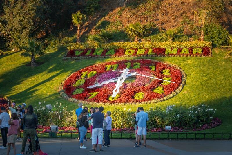 Vina del Mar Clock Flower - Reloj de Flores - Vina del Mar, o Chile imagens de stock