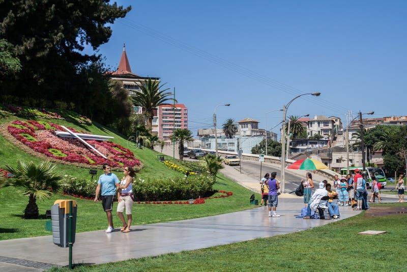 Vina del Mar Flower Clock Chile fotografie stock libere da diritti