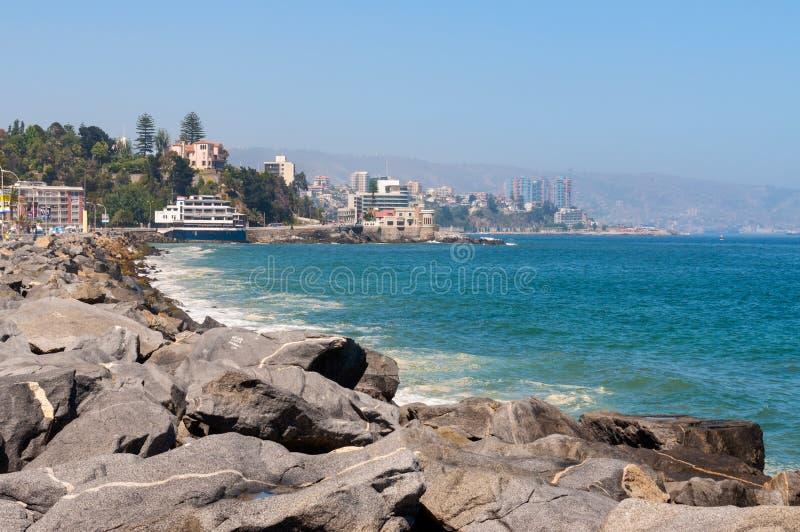 Vina del Mar, região de Valparaiso no Chile foto de stock royalty free