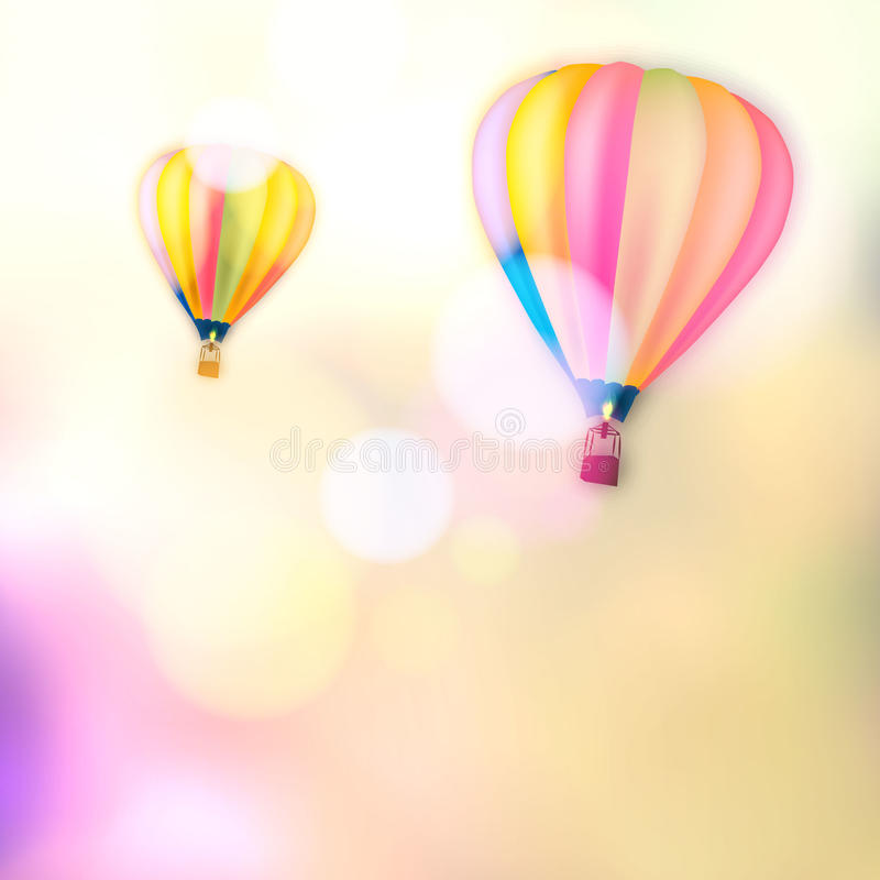 Free Vinage Bokeh Vector Colorful Hot Air Balloon Is Flying At Sunrise Stock Image - 39490301