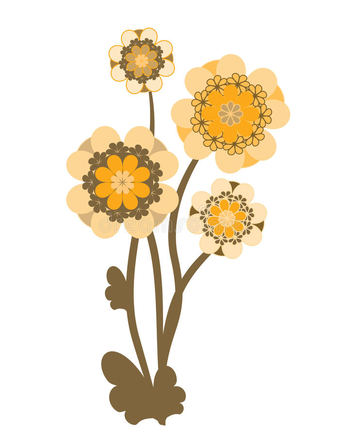 Download Vinage flower stock illustration. Illustration of deco - 23365680