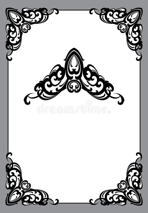Vinage frame in art nouveau style stock illustration