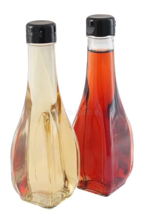 Vinagre branco e vermelho imagens de stock