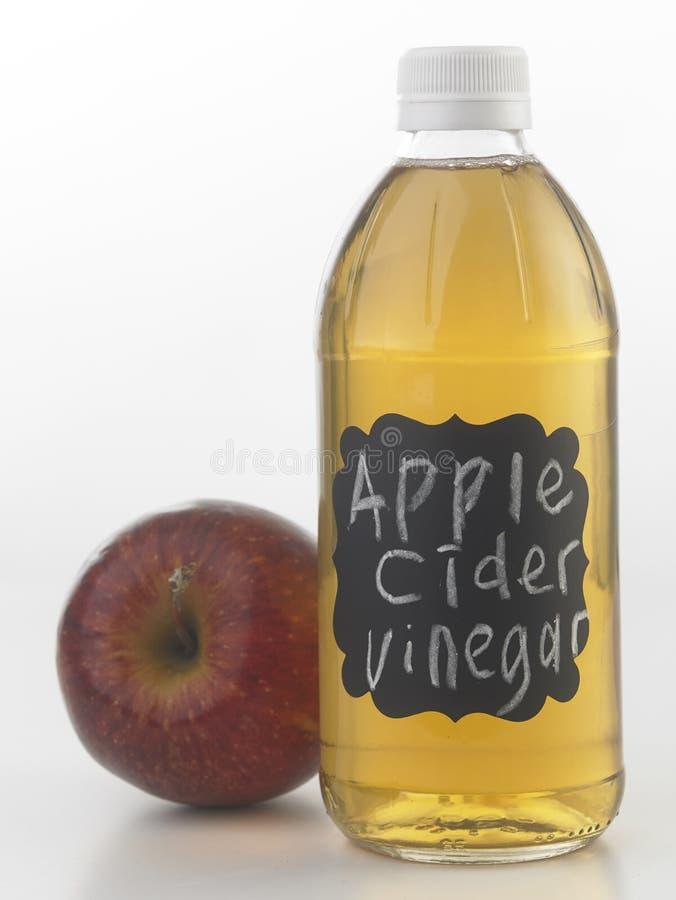 Vinagre de sidra de Apple imagen de archivo libre de regalías