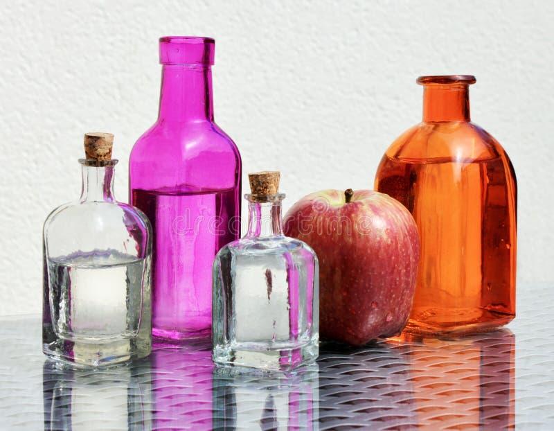 Vinagre y manzana de sidra de Apple imagen de archivo