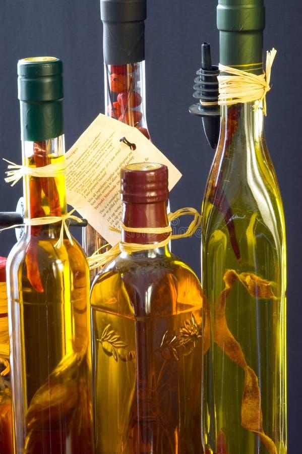 Vinagres de Herbed fotografia de stock