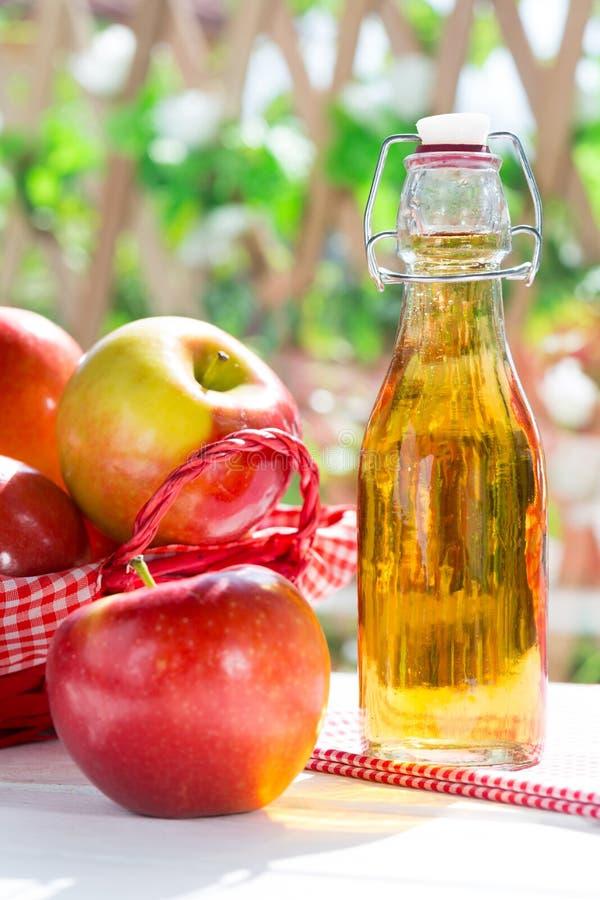 Vinaigre de cidre d'Apple photos libres de droits