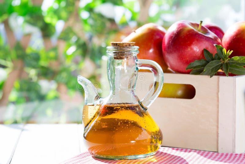 Vinaigre de cidre d'Apple image libre de droits