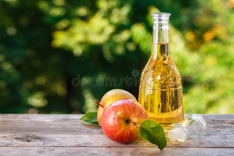 Vinaigre de cidre d'Apple photos libres de droits
