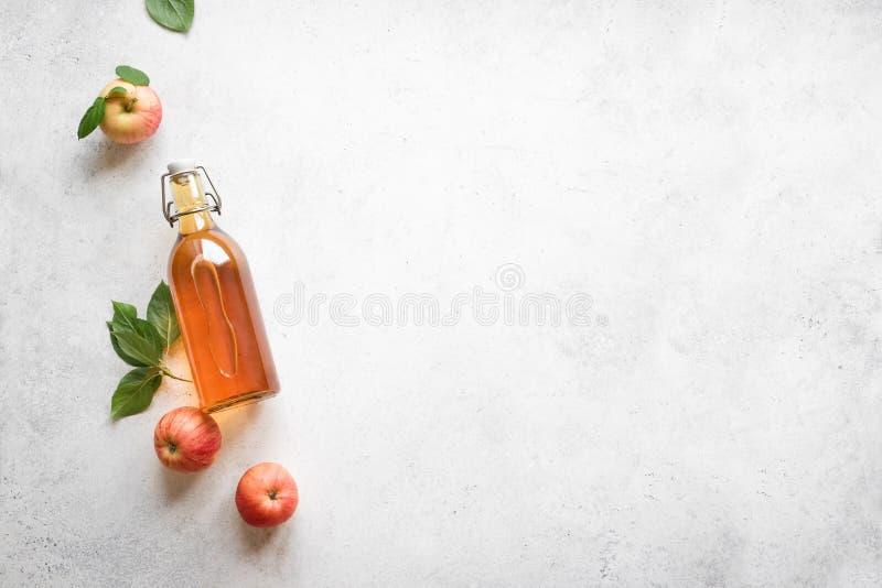Vinaigre de cidre d'Apple image stock