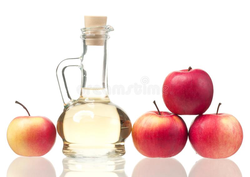 Vinaigre frais de pomme photos stock