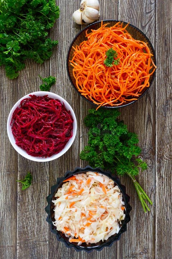 ` Vinaigrette ` - χορτοφάγος σαλάτα βιταμινών στοκ φωτογραφίες με δικαίωμα ελεύθερης χρήσης
