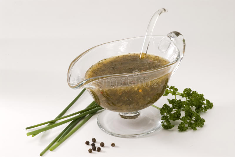 Vinaigrette dressing. stock image