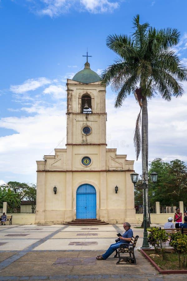 Vinales教会,联合国科教文组织,Vinales,比那尔德里奥省,古巴,西印度群岛,加勒比,中美洲 免版税库存照片