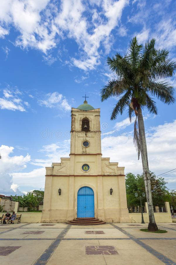 Vinales教会,联合国科教文组织,Vinales,比那尔德里奥省,古巴,西印度群岛,加勒比,中美洲 库存照片
