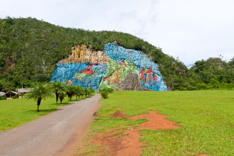 Vinales谷在古巴 库存照片