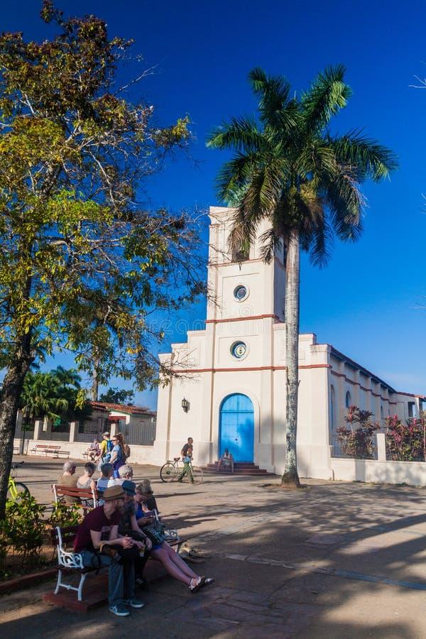 VINALES, CUBA - 17 DE FEBRERO DE 2016: Iglesia sagrada del corazón en el pueblo de Vinales, Cuba fotos de archivo