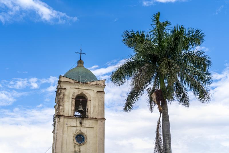 Vinales kyrka, UNESCO, Vinales, Pinar del Rio Province, Kuba royaltyfria bilder