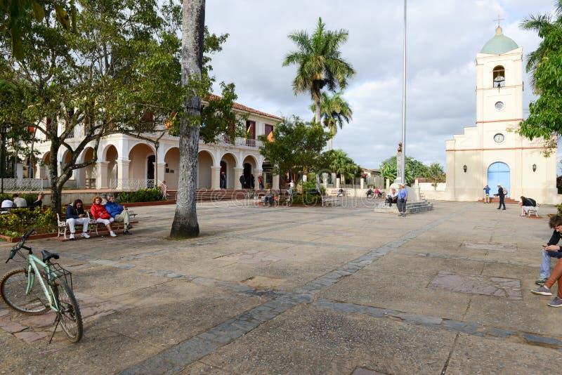 Vinales, miasteczko i zarząd miasta Kuba, fotografia royalty free