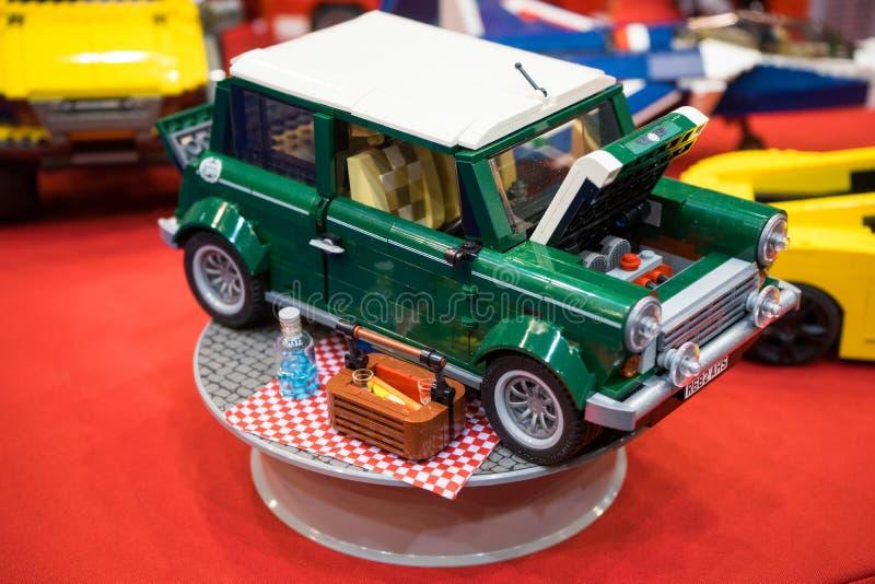 Vinatge微型铜lego 库存照片