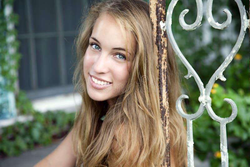 vinatge ogrodowa kobieta fotografia stock