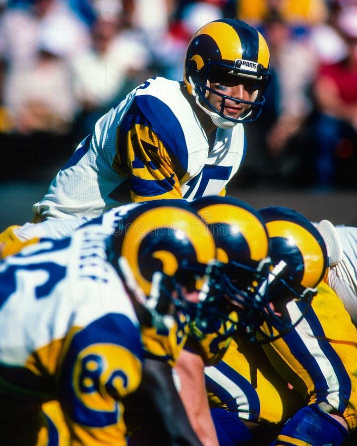 Vince Ferragamo Los Angeles Rams imagens de stock