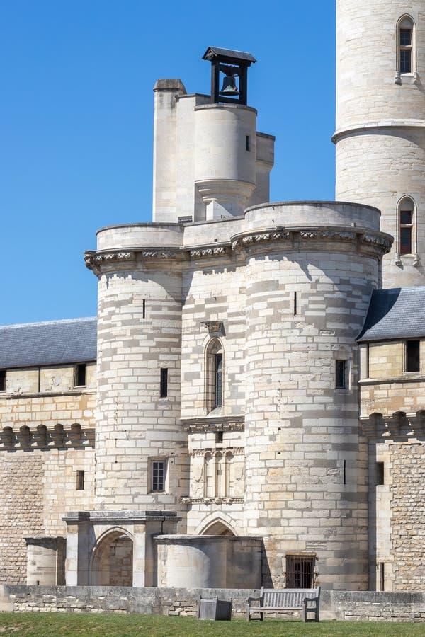 Vincennes castle near Paris, France. Entry gate to Vincennes Castle, Chateau de Vincennes, near Paris, France royalty free stock images