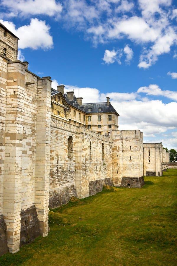 Vincennes Schloss-Defensivenwand stockbilder
