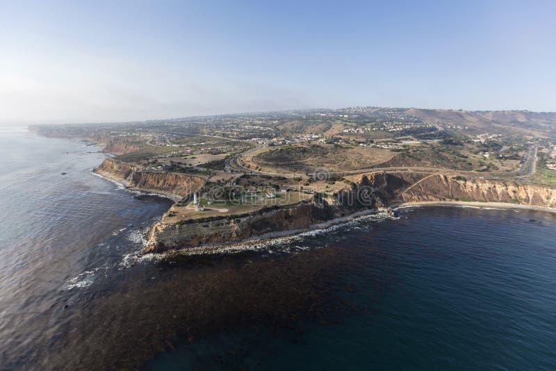 Vincent Point Aerial in Rancho Palos Verdes nahe Los Angeles cal lizenzfreies stockfoto