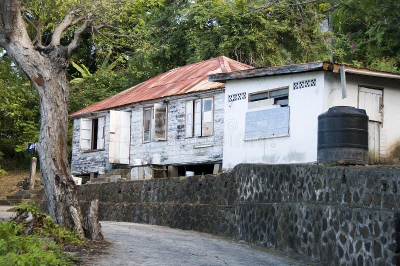 vincent st карибской резиденции типичное стоковые изображения