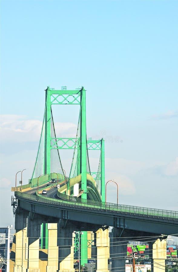 Vincent Thomas Bridge in San Pedro immagine stock