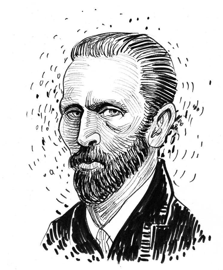 Vincent van Gogh ilustração royalty free