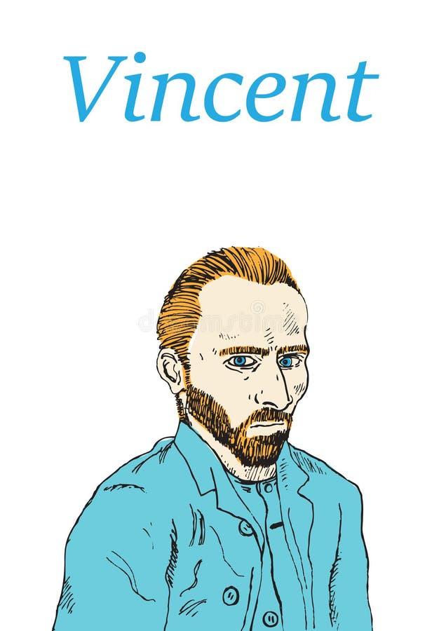 Vincent van Gogh lizenzfreie abbildung