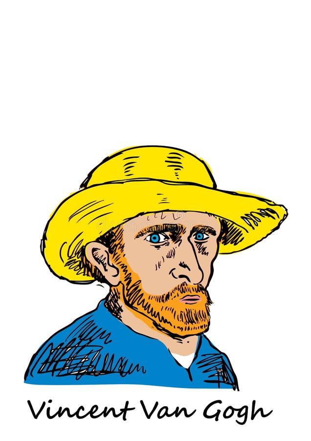 Vincent Van Gogh vektor illustrationer