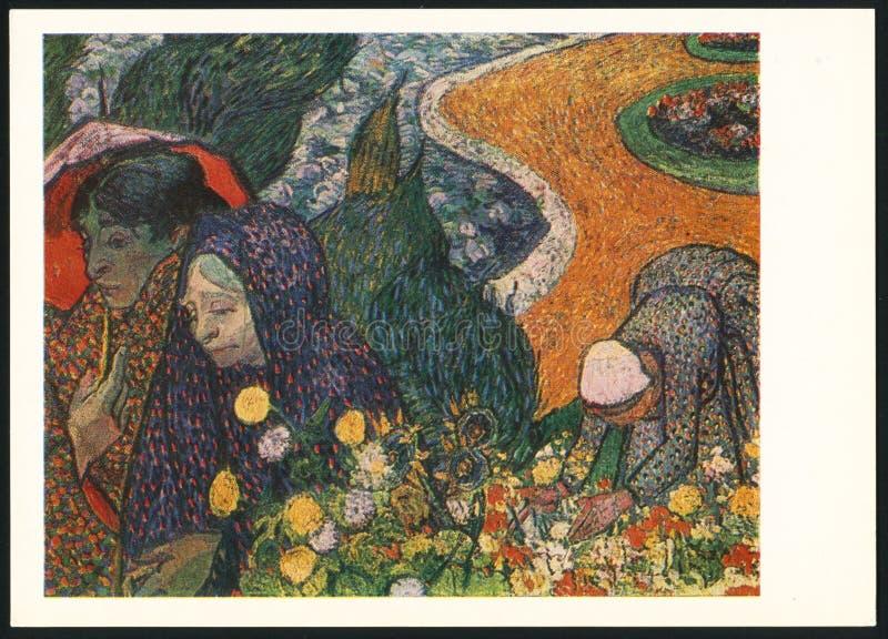Vincent van Gogh Damer i Arles royaltyfri bild