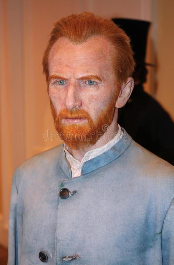 Vincent van Gogh at Madame Tussaud's royalty free stock photo
